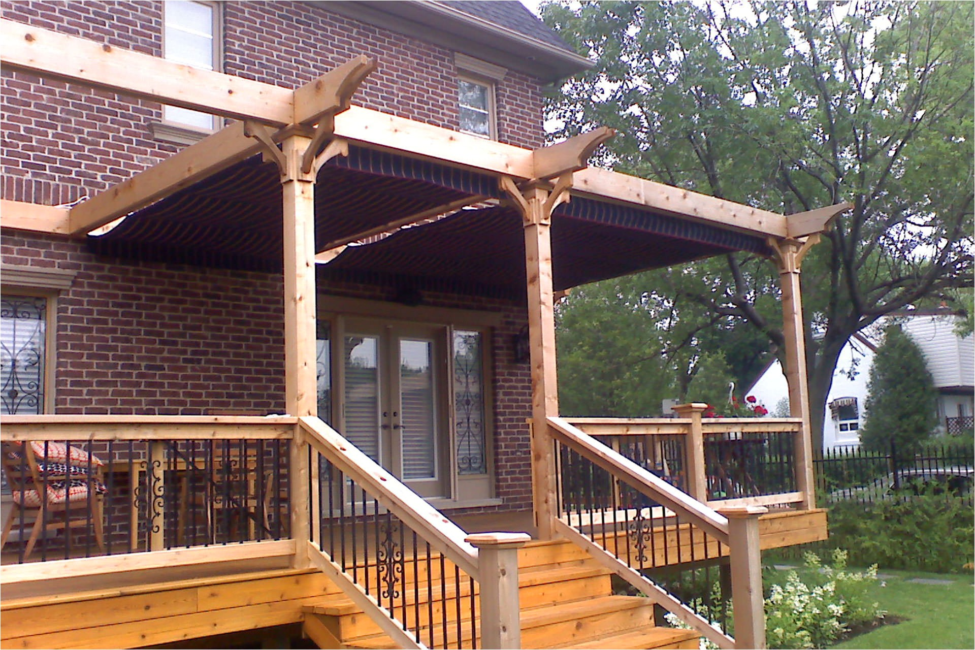 pergola plans attached to house free