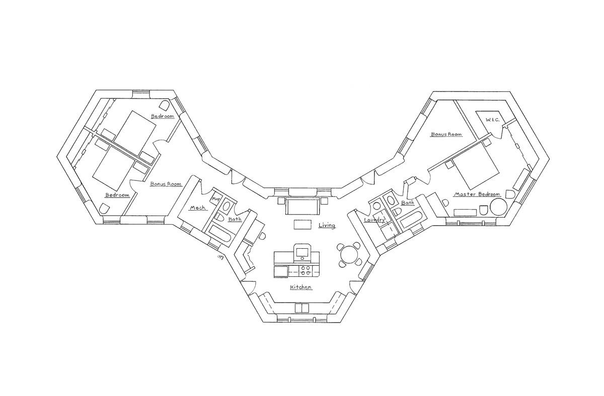 Pod Home Plans Earthbag Pods Earthbag House Plans