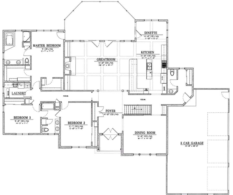 floor plan of pole barn home