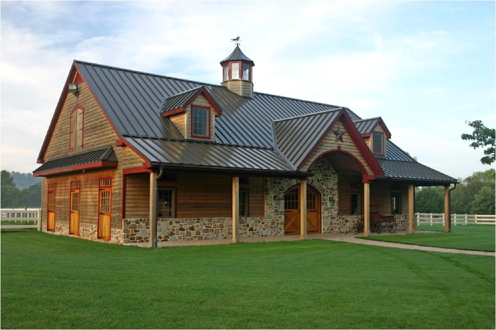 1 story pole barn house