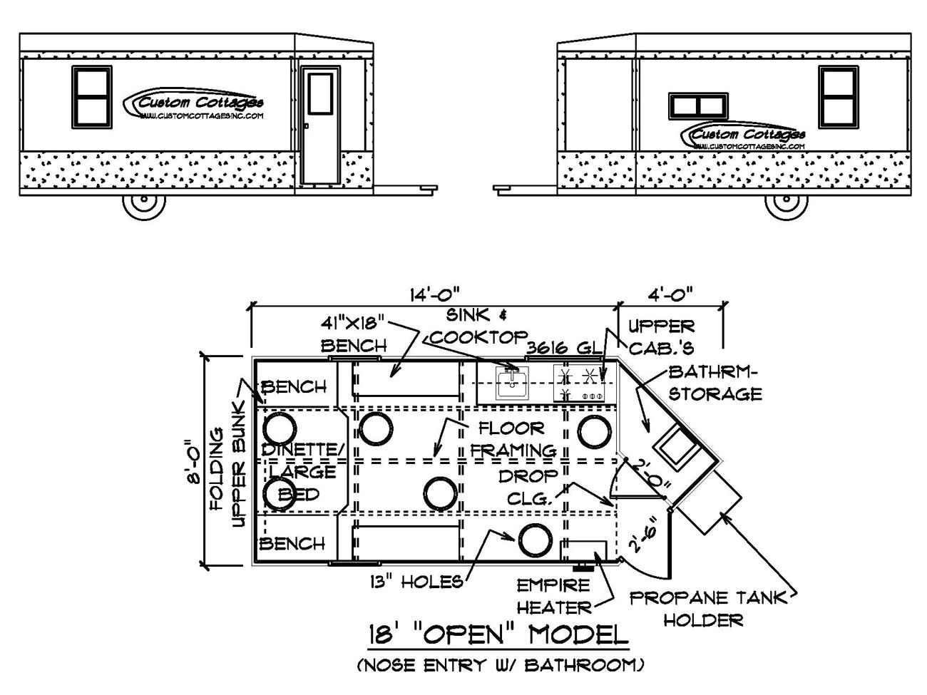 portable ice fishing hut plans