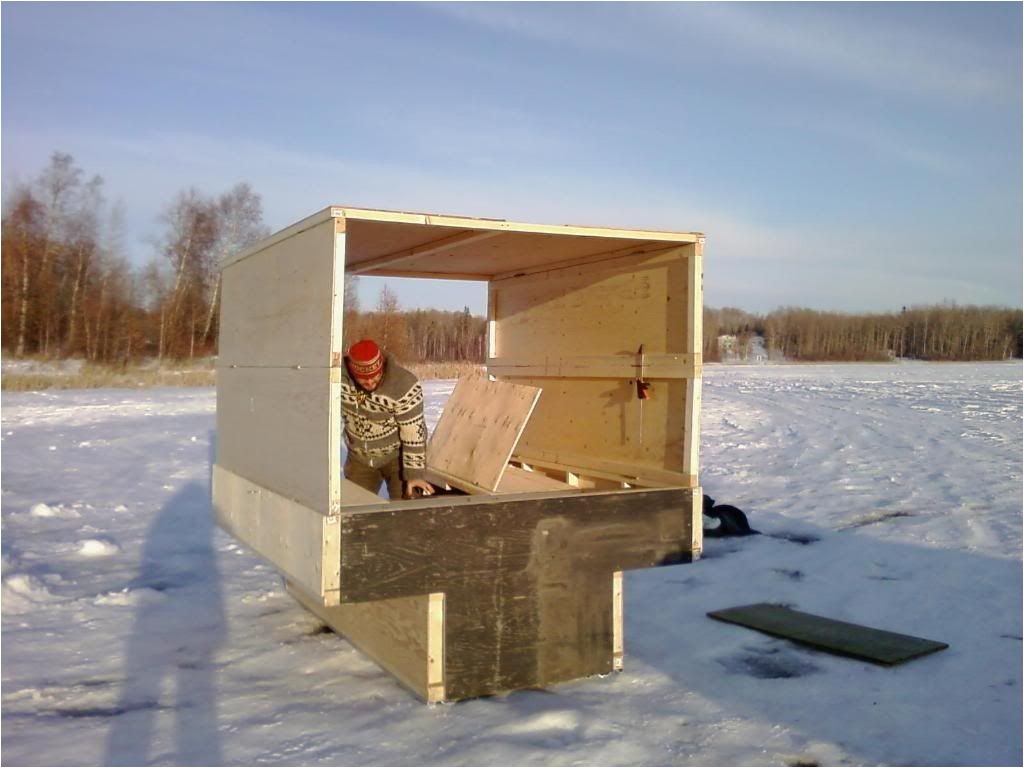 portable ice house plans