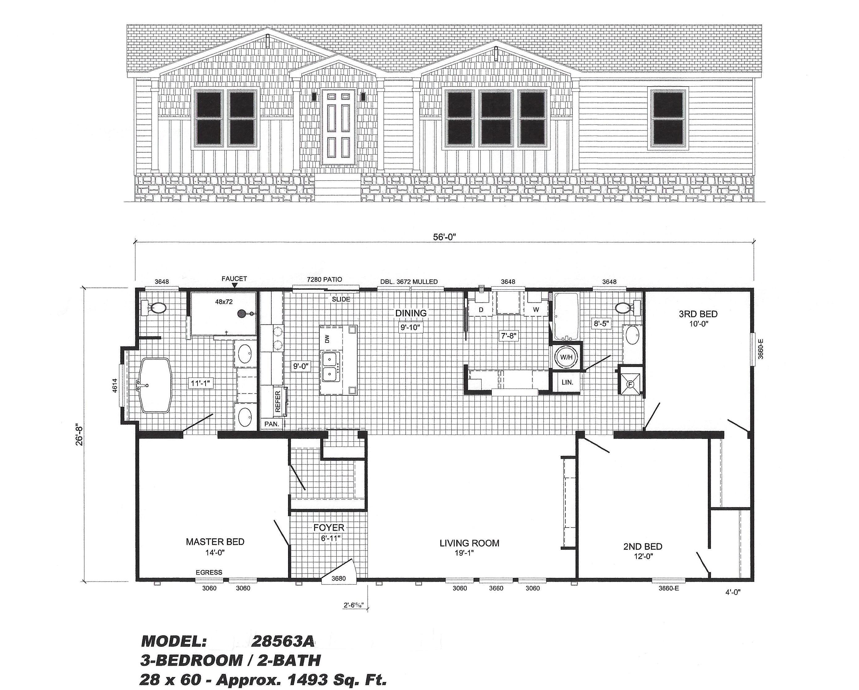 Portable Home Plans Patriot Mobile Home Floor Plans