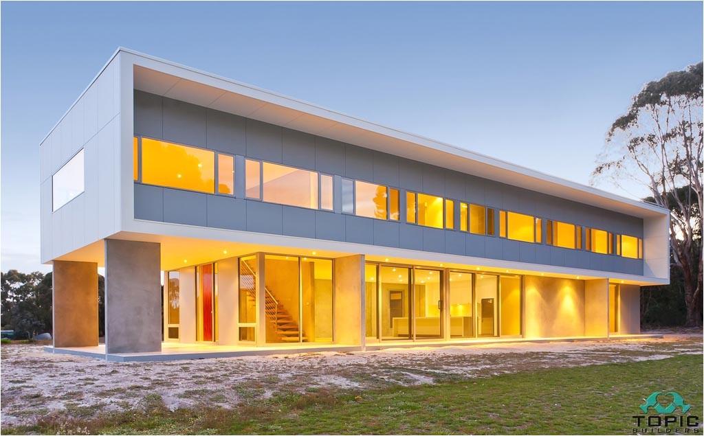 precast concrete beach house