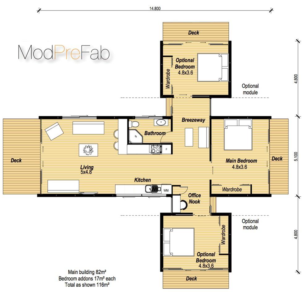 two bedroom modular home plans