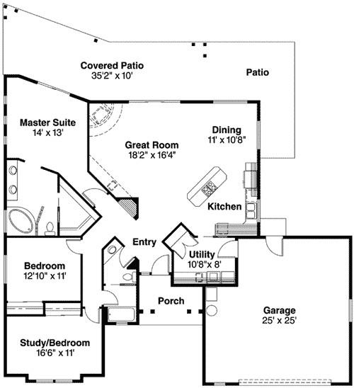 Pueblo Home Plans Pueblo Style House Plan 72191da 1st Floor Master Suite