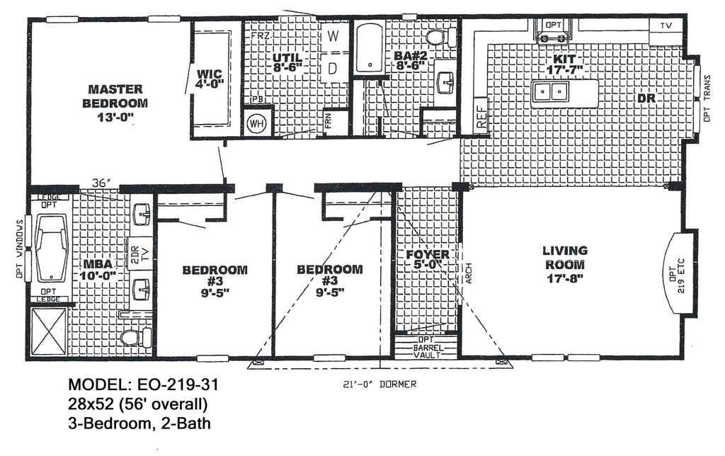 6 bedroom mobile home plans