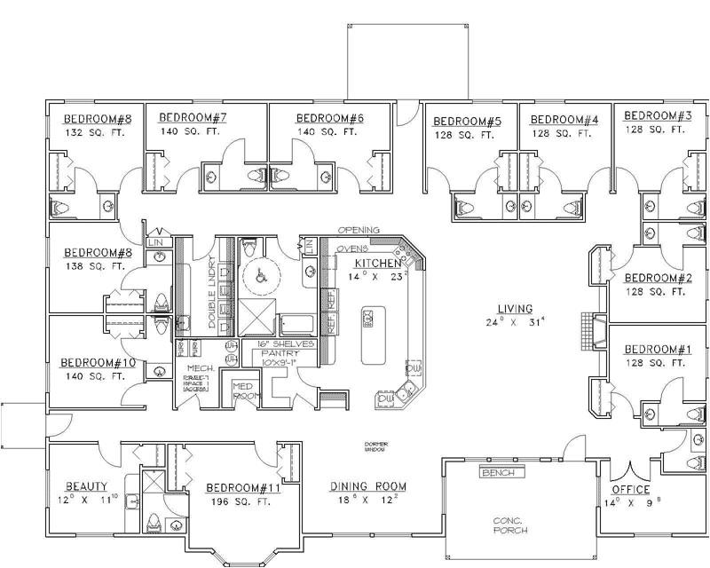 luxury ranch home design