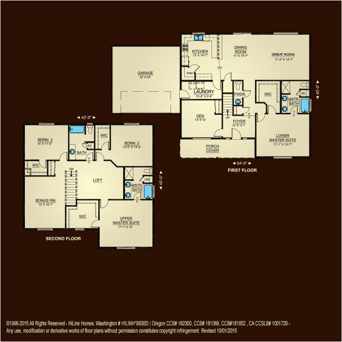 high quality hiline home plans 9 hi line homes floor plans