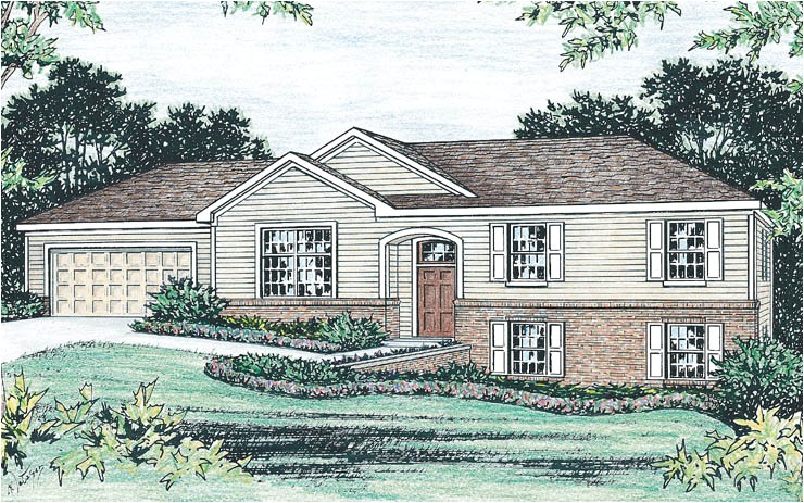 raised ranch home plan