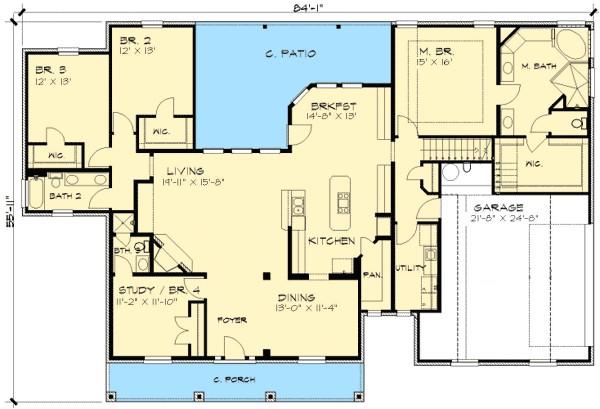 house plan 36866jg