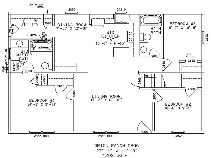 impressive single story ranch style house plans 4 ranch house floor plans