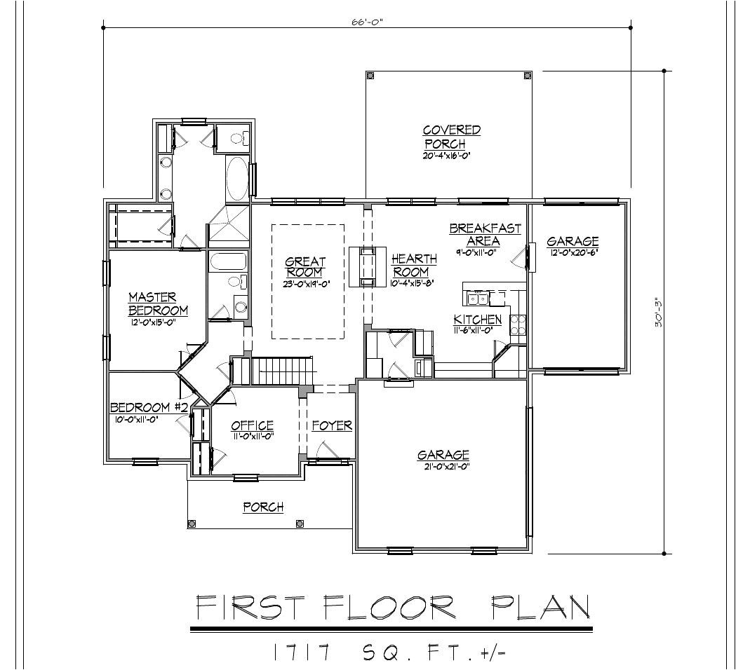 1717sf ranch house plan w garage on basement 200691235105
