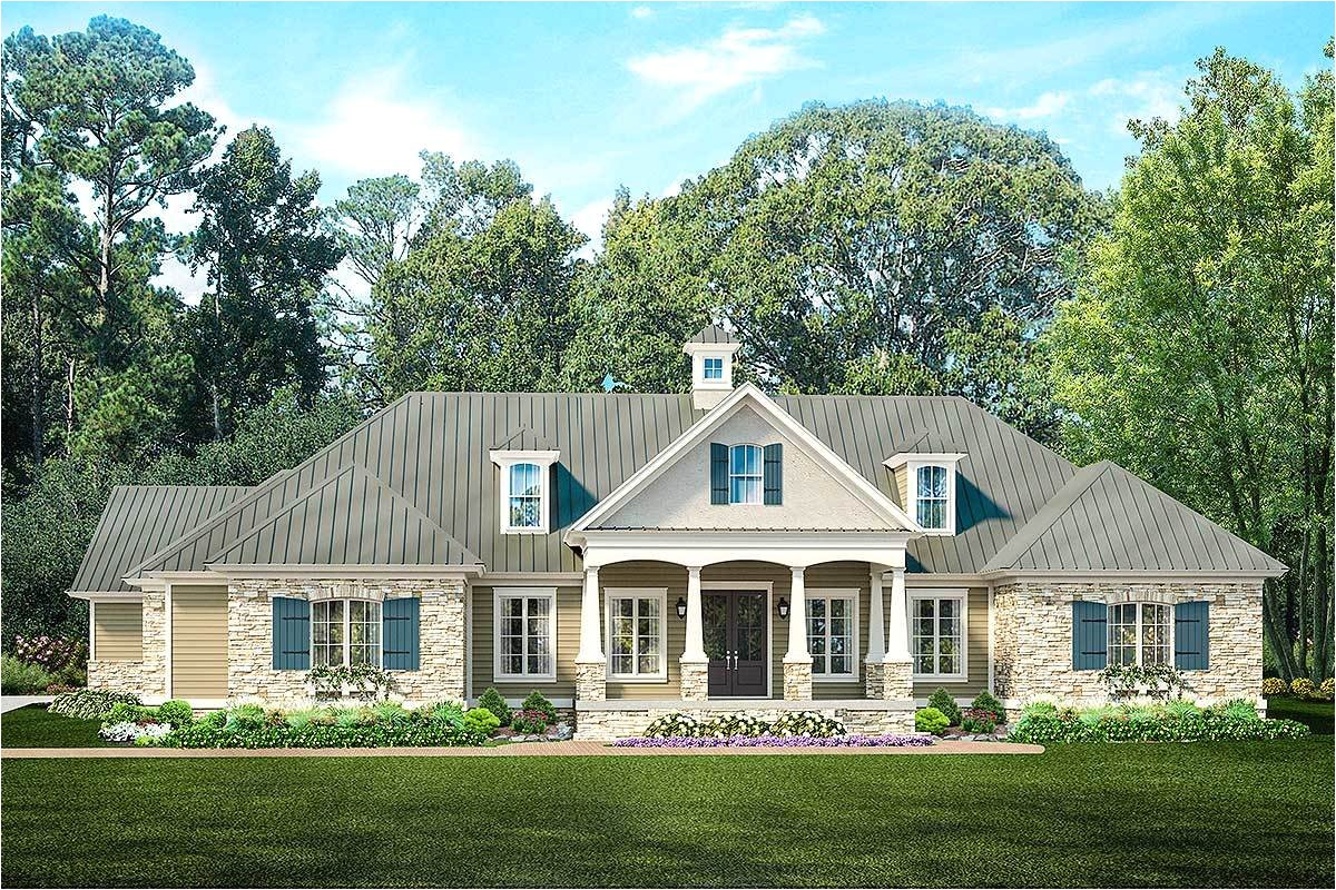 ranch home plan with pool house 62134v