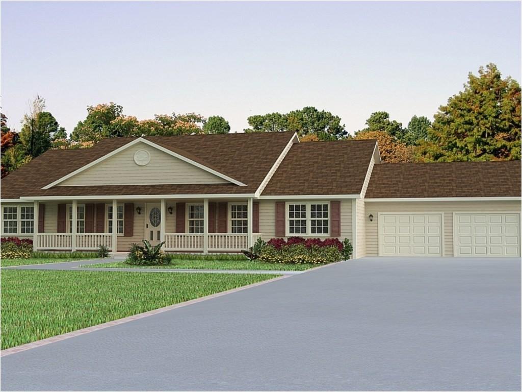 11478 front porch plans ranch house