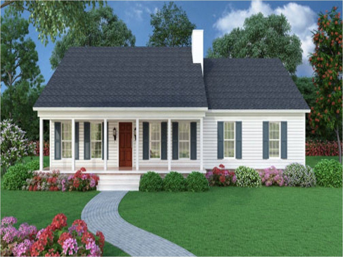 2105 small ranch house plans with front porch