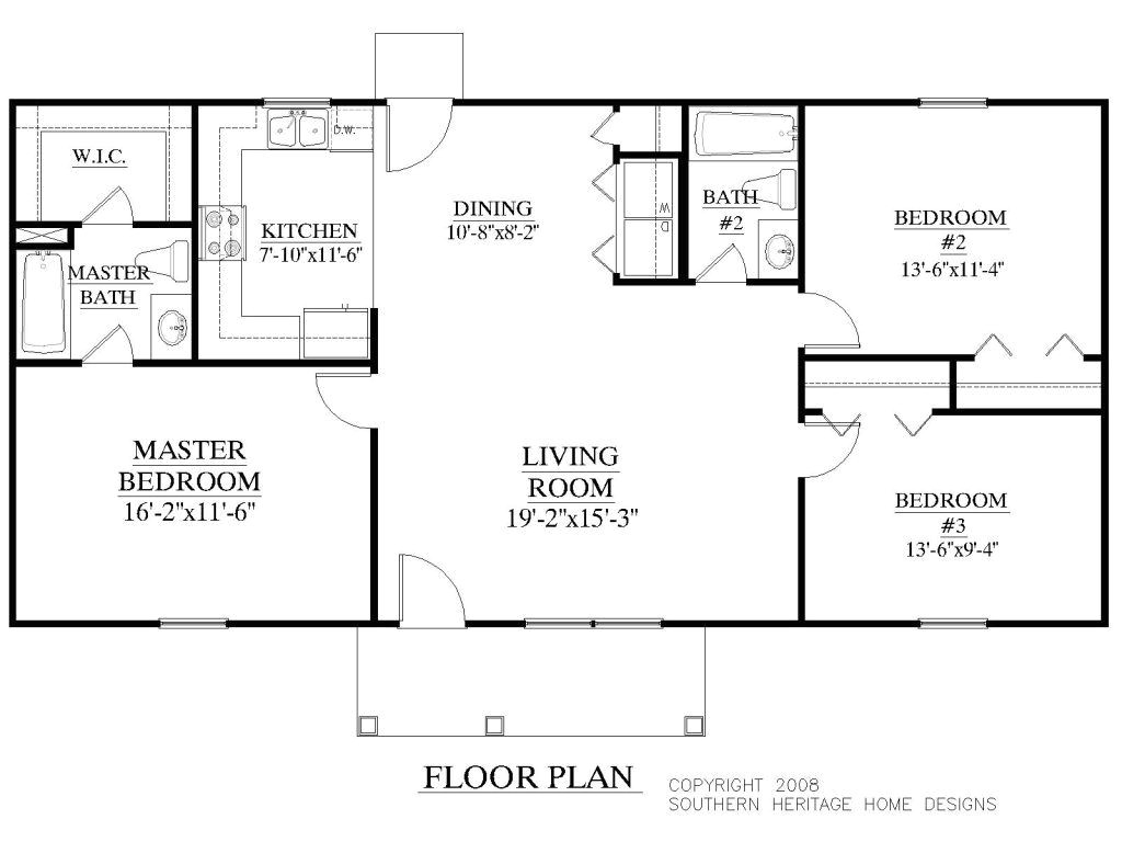 1500 square foot ranch style house plans