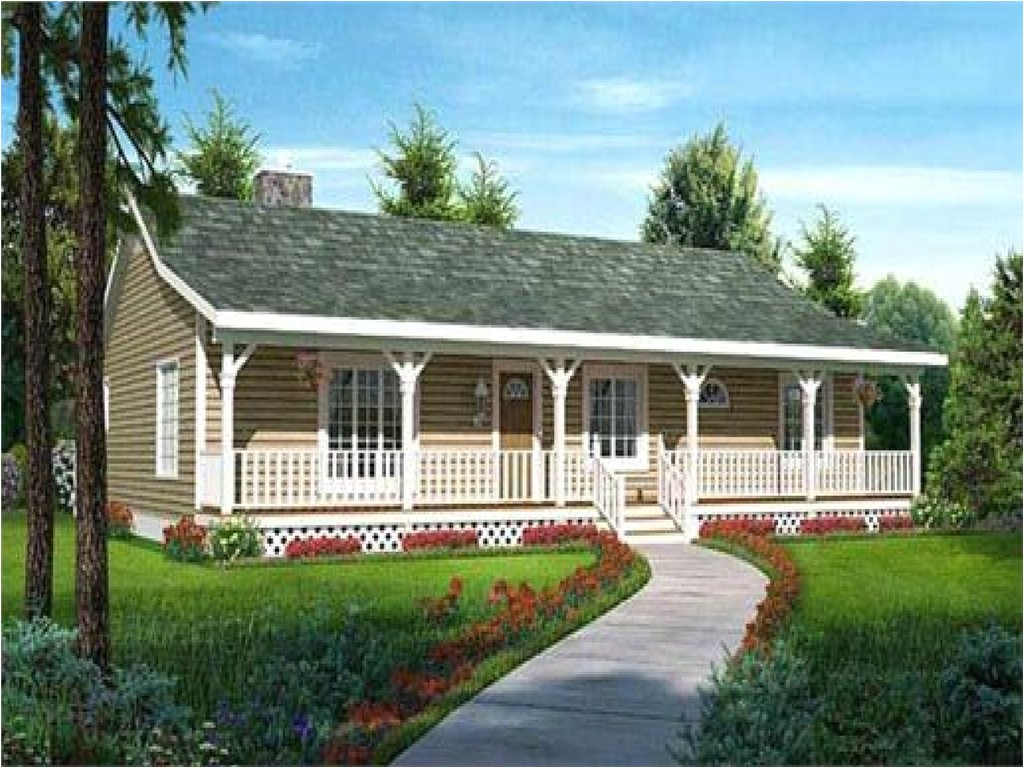 ranch style house plan front porch