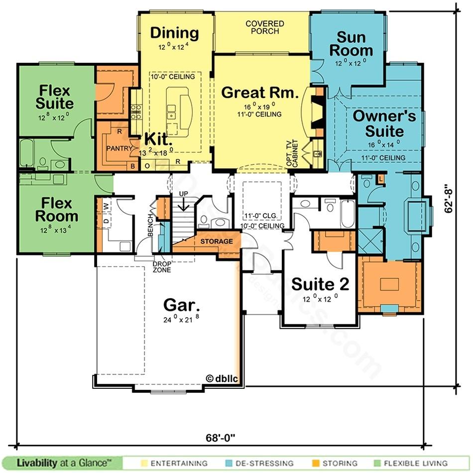 dual master suite ranch home plans