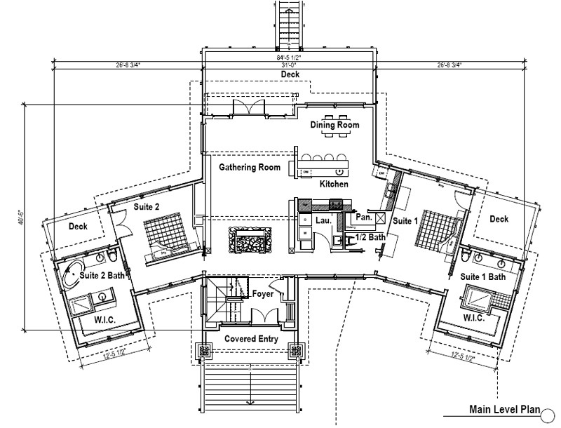 ranch style house plans 2 master suites
