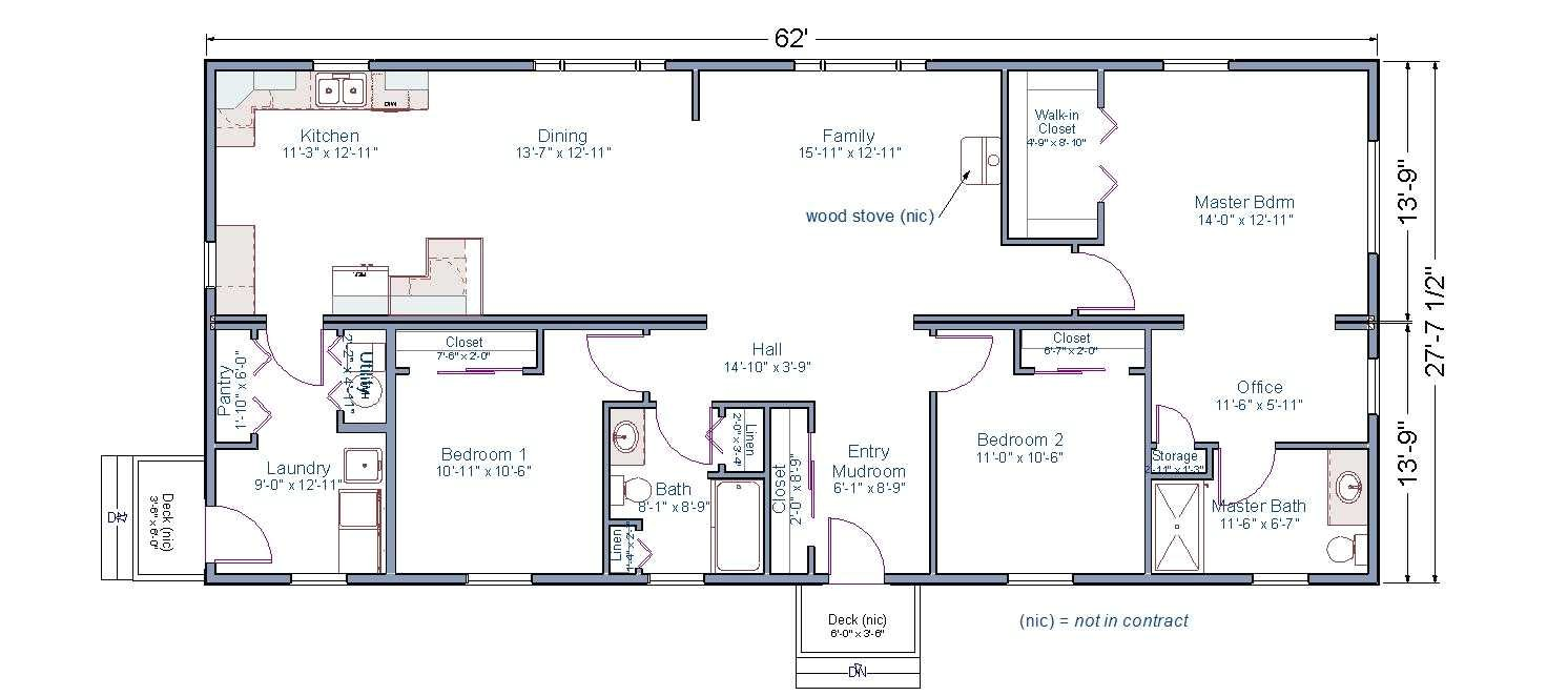 ranch house plans with 2 master suites
