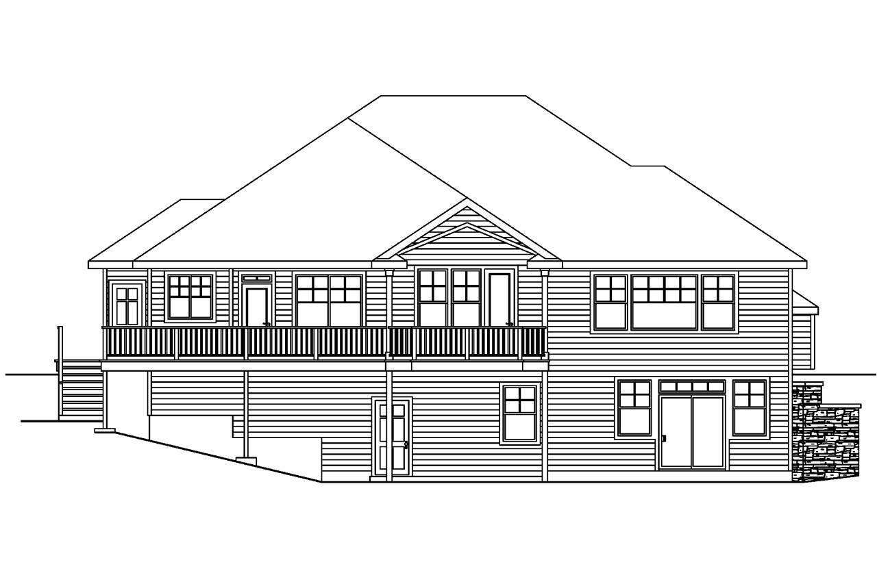 house plans rear view lot