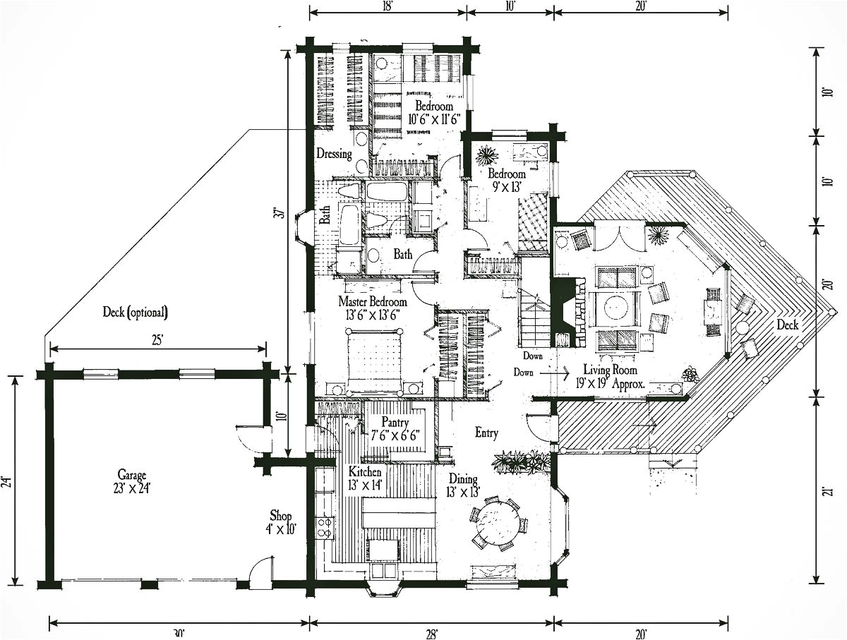 rear view home plans