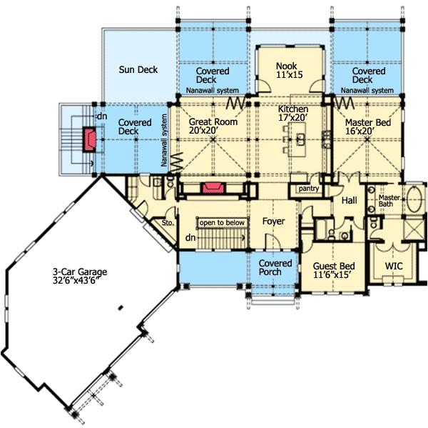 Rear View Home Plans Rear View House Plans House Design Plans