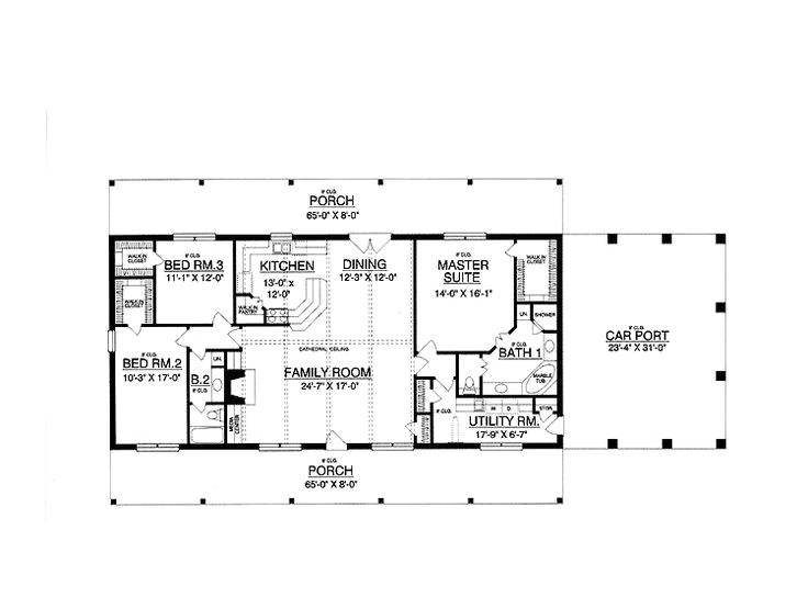 Rectangular Home Plans 30×50 Rectangle House Plans Expansive One Story I Would