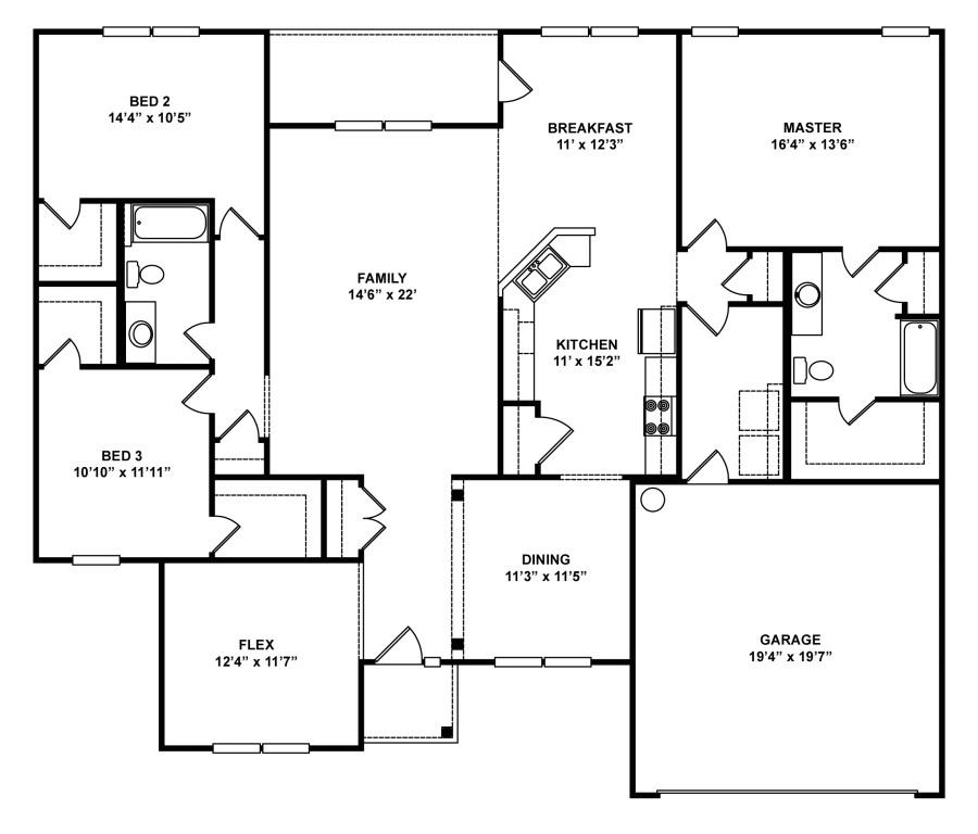 Red Door Homes Floor Plans Lexington Floorplan Red Door Homes East Tennessee