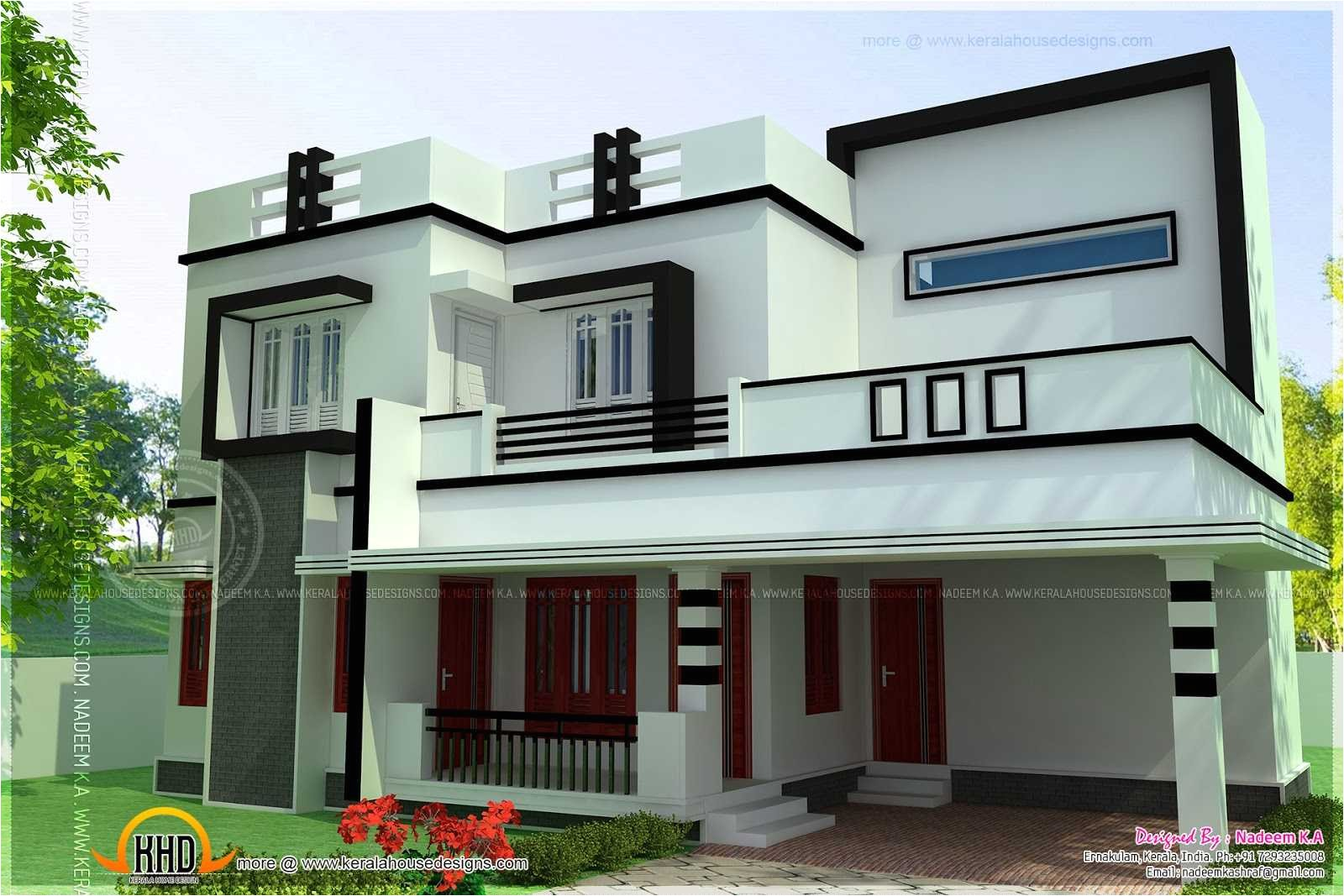 4 bedroom modern house design plans designs 2018 including incredible flat roof kerala home floor pictures