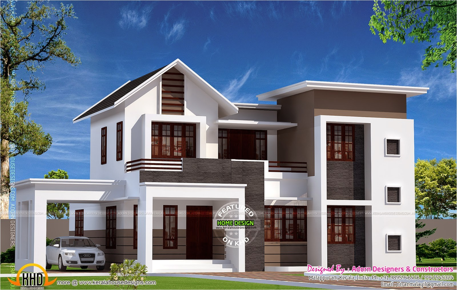 new house design in 1900 sq feet