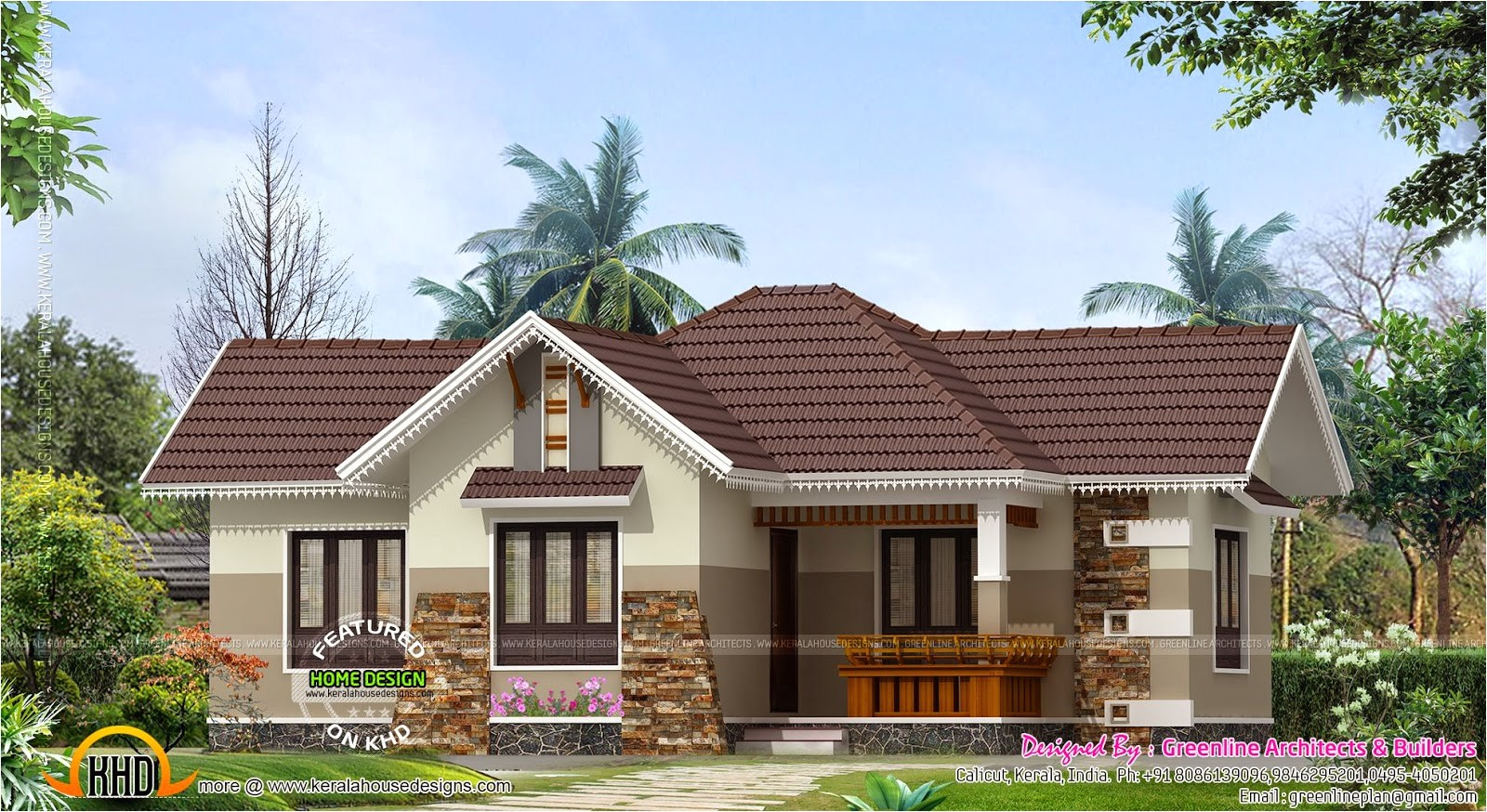 nice small house exterior kerala home design floor plans 3