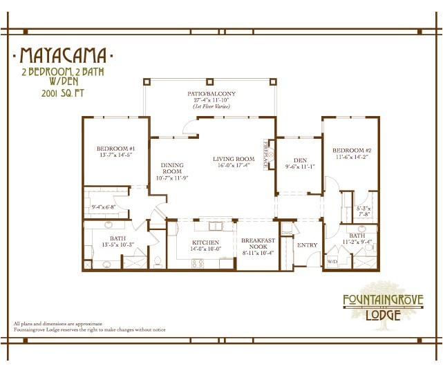floor plans for retirement homes