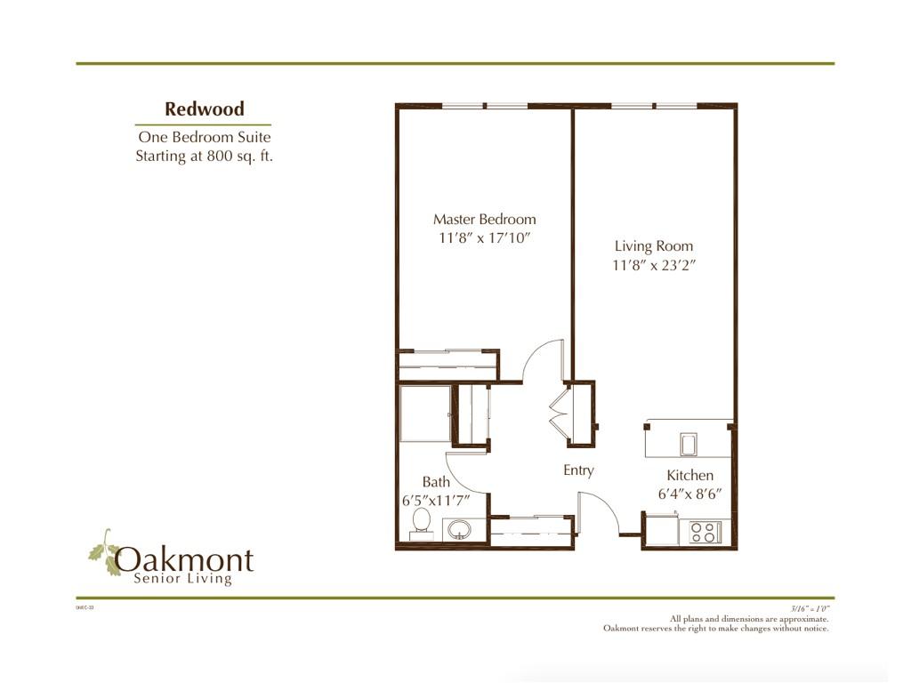 retirement community whittier redwood floor plan
