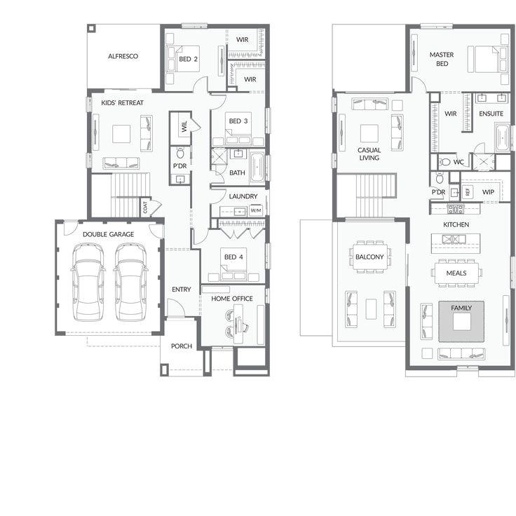 reverse living house plans