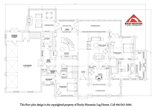 rocky mountain log homes floor plans