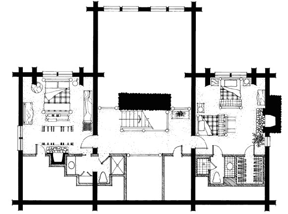 wyoming log home plan 2