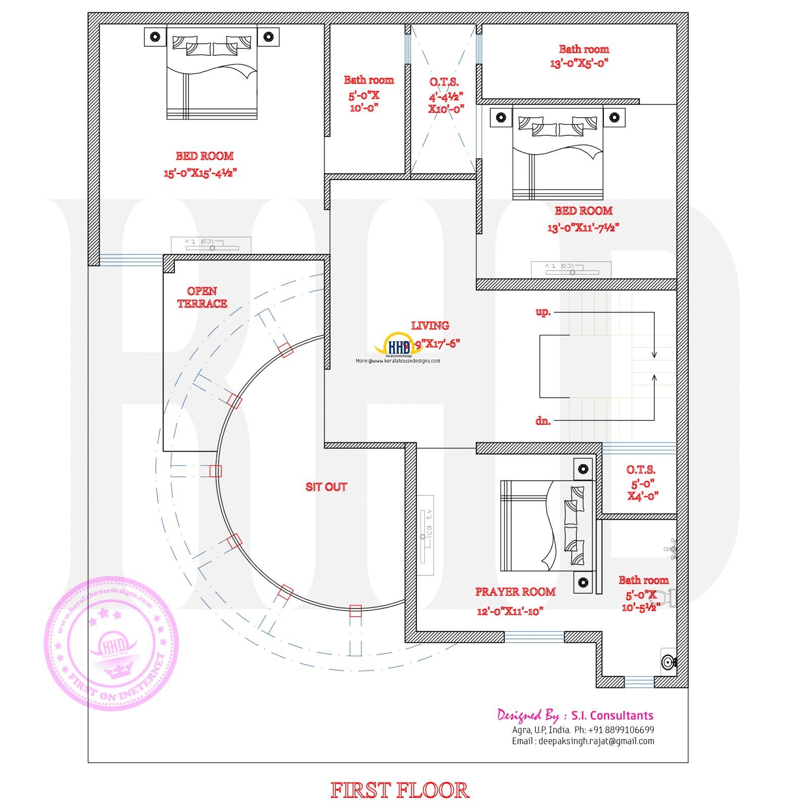 modern house round element
