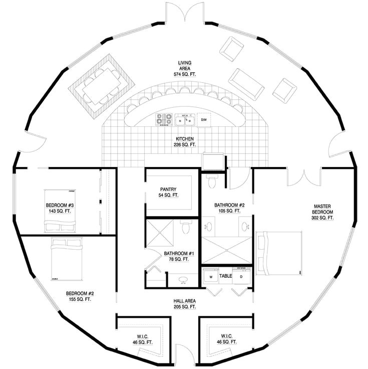 Round Homes Floor Plans Round House Plan Yurts Pinterest Dome Homes Yurts