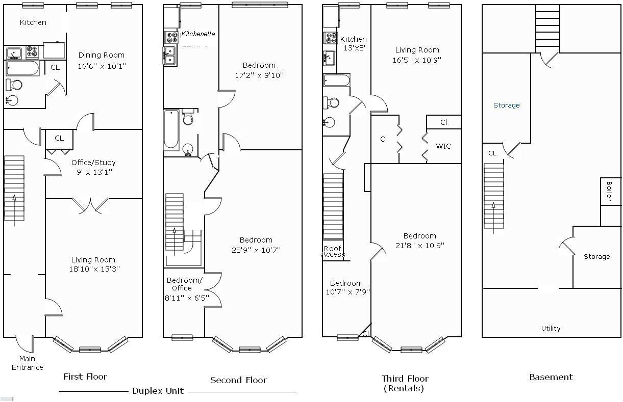 rowhouse floor plans