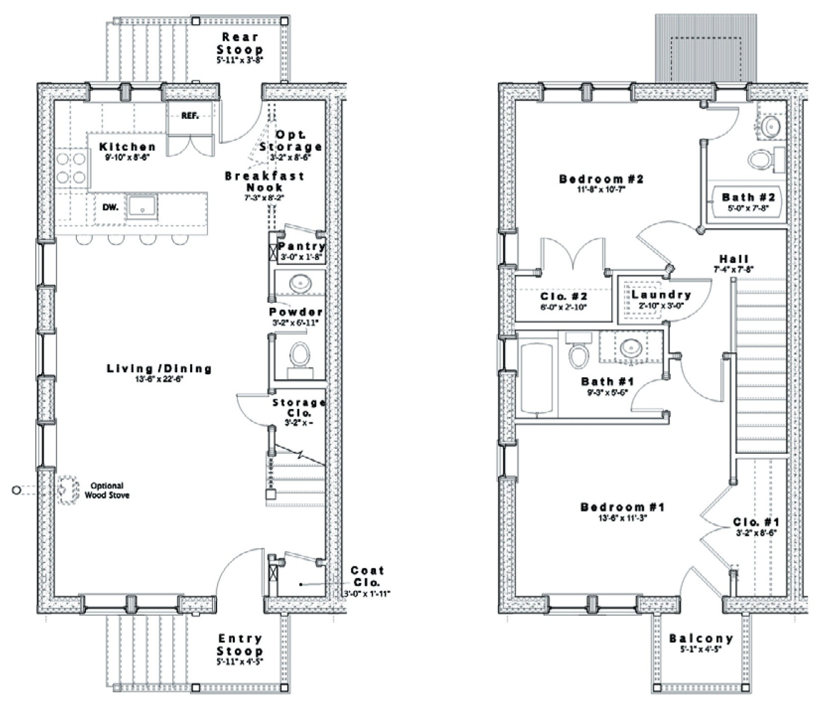 House Plans Duplex Plans Row Home: Row Home Floor Plan