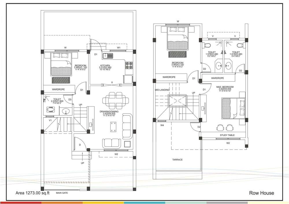 row house floor plans