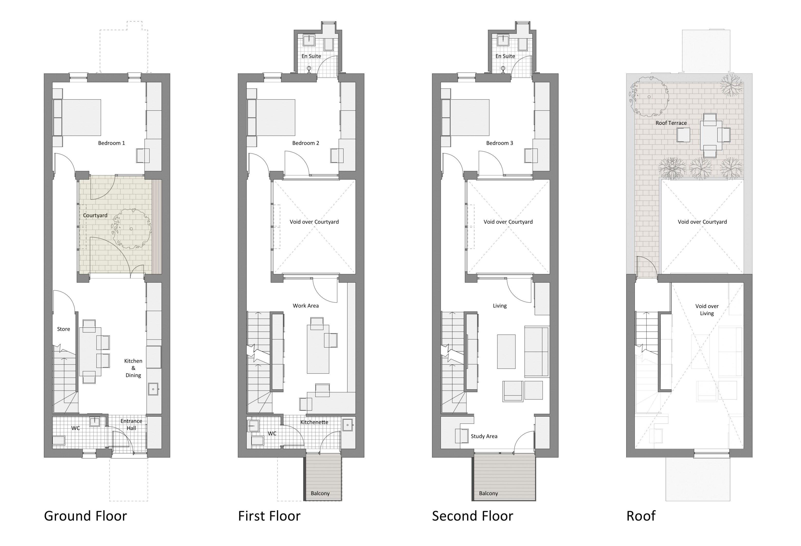 recommended row home floor plan