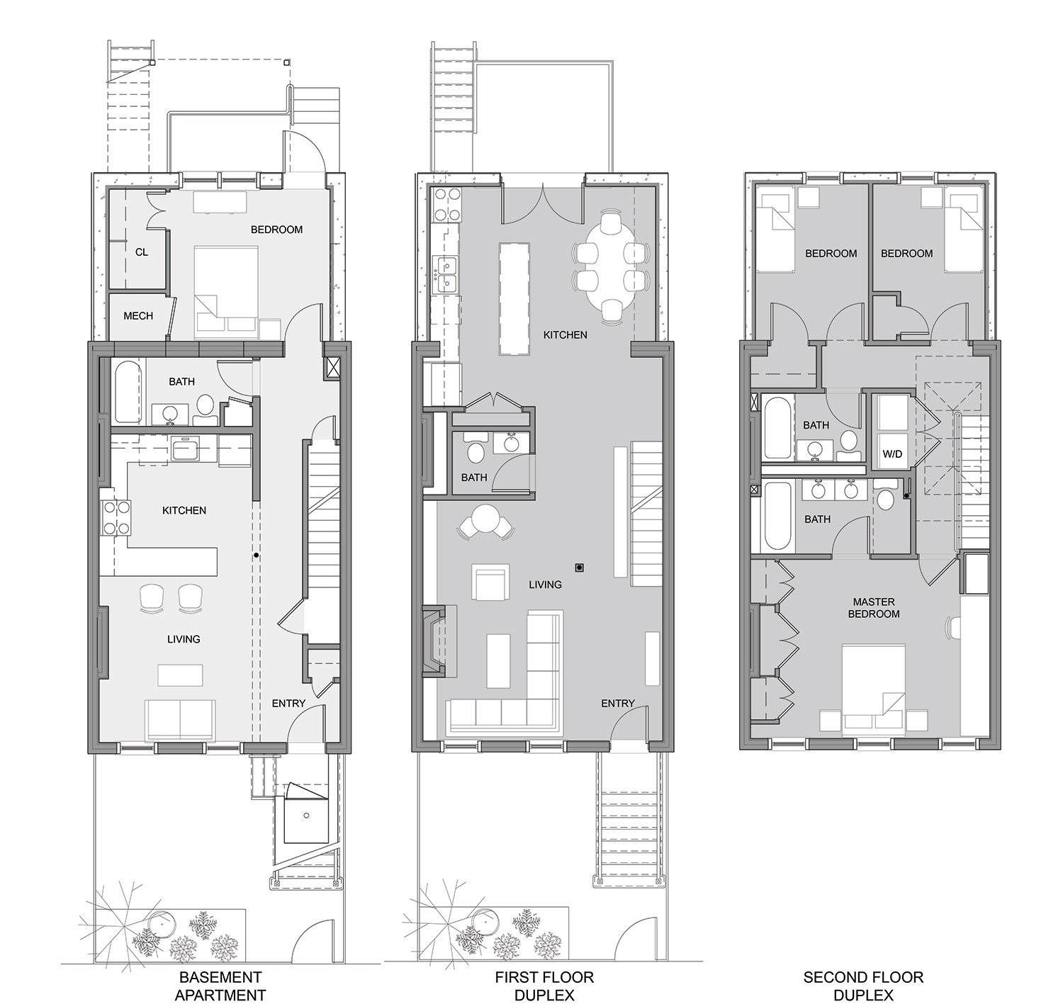 traditional row house floor plans