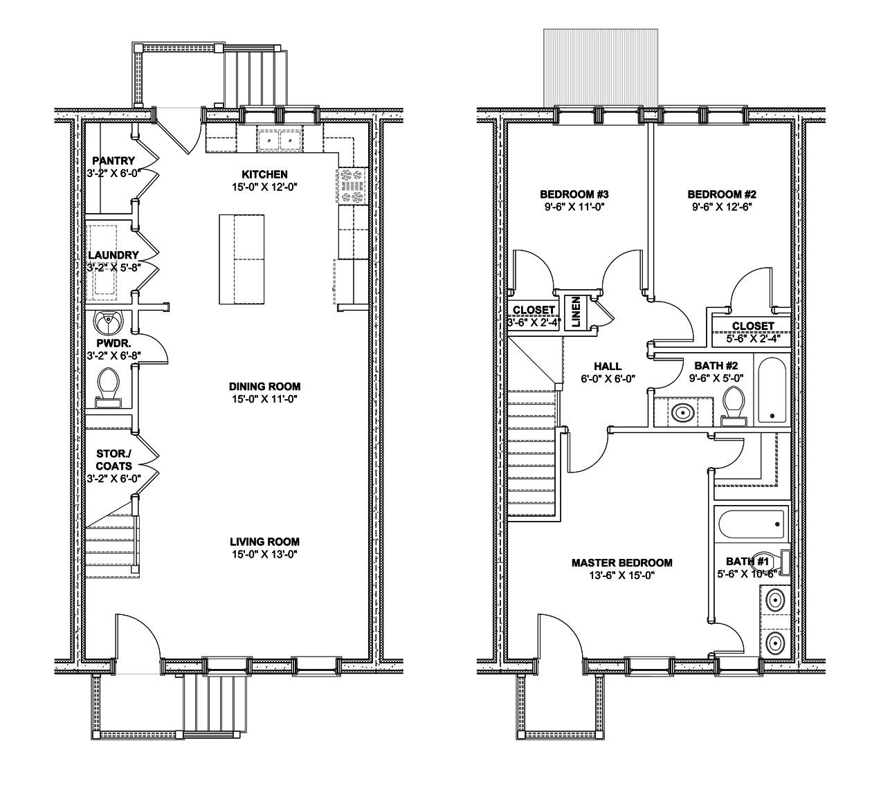 Row Home Plans Small Row House Plans Joy Studio Design Gallery Best