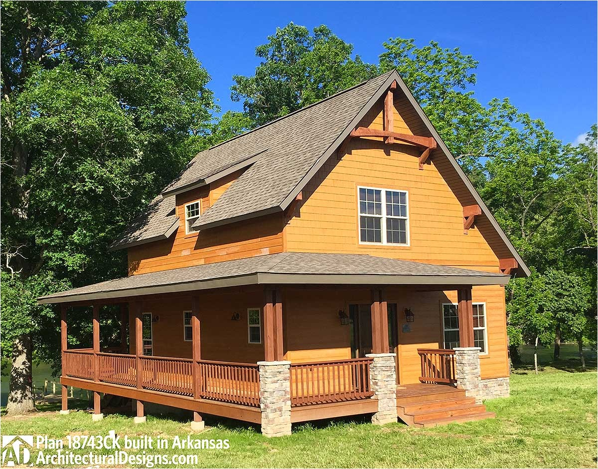 classic small rustic home plan 18743ck