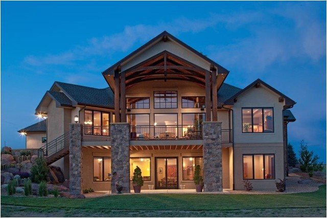 texas style ranch home back exterior rustic exterior