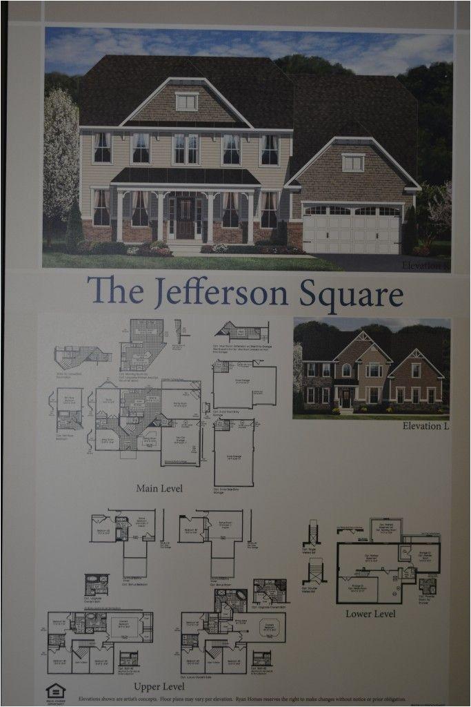 Ryan Homes Jefferson Square Floor Plan the Jefferson Square Single Family Home Floor Plan by Ryan