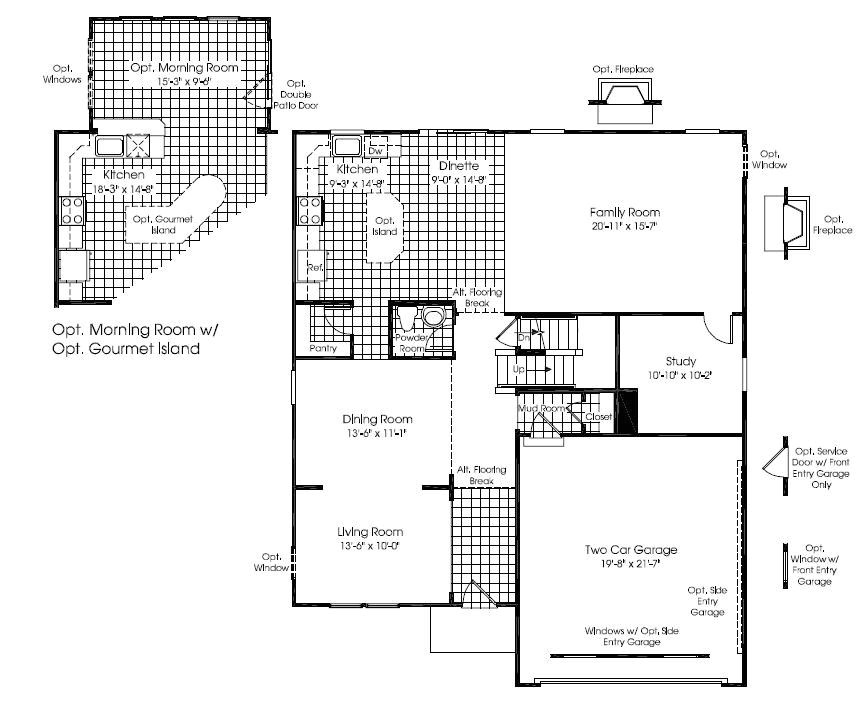 ryan homes rome floor plan